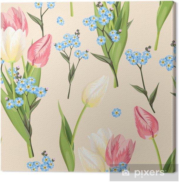 Obraz na płótnie Zapomnij o mnie, a tulipan bez szwu - Rośliny i kwiaty