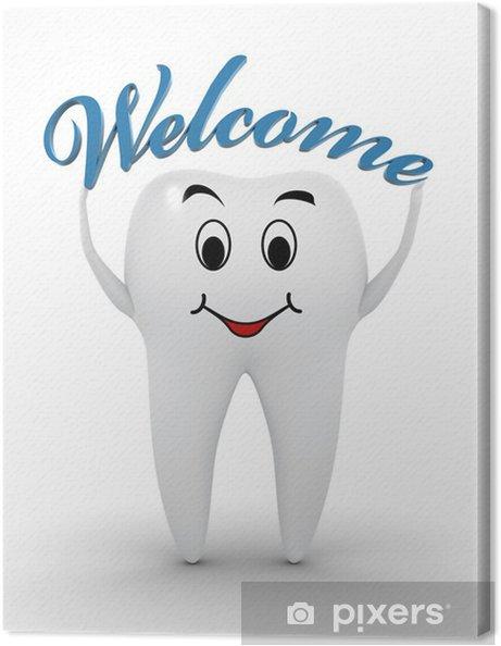 Obraz na płótnie Zapraszamy do dentysty - Znaki i symbole