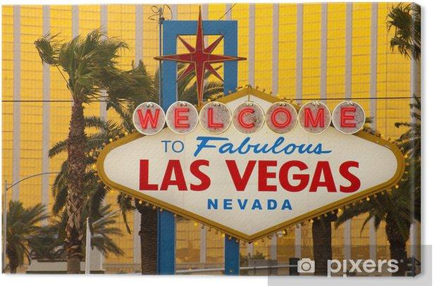 Obraz na płótnie Zapraszamy do znaku w Las Vegas - Miasta amerykańskie