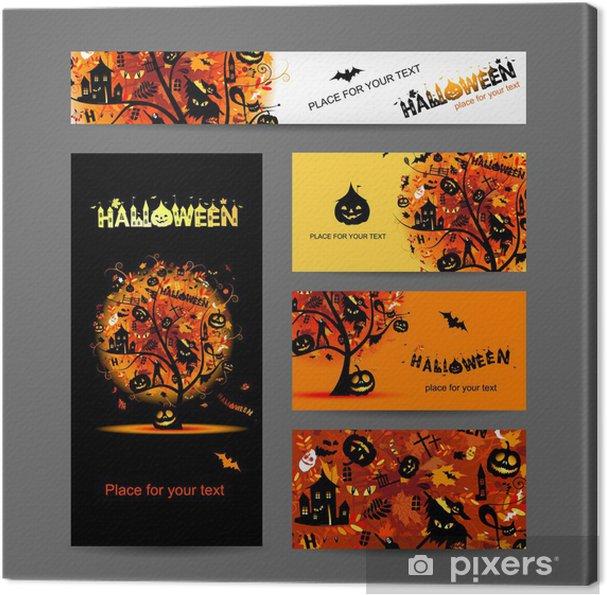 Obraz Na Płótnie Zaproszenia Na Halloween Party Dla Projektu