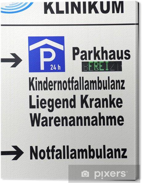 Obraz na płótnie Zarejestruj pogotowia awaryjnego parkowania odbierania - Znak/symbol