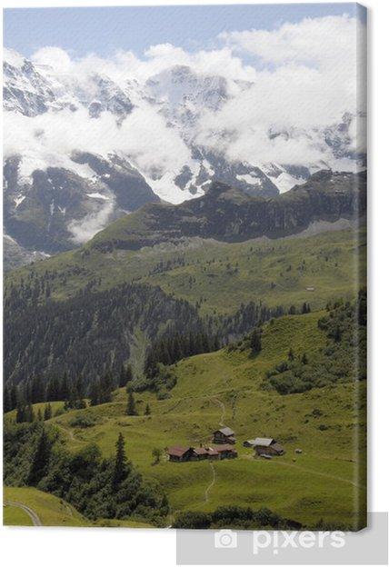 Obraz na płótnie Zaśnieżone szczyty wokół głowy Sefinen dolinie - Europa