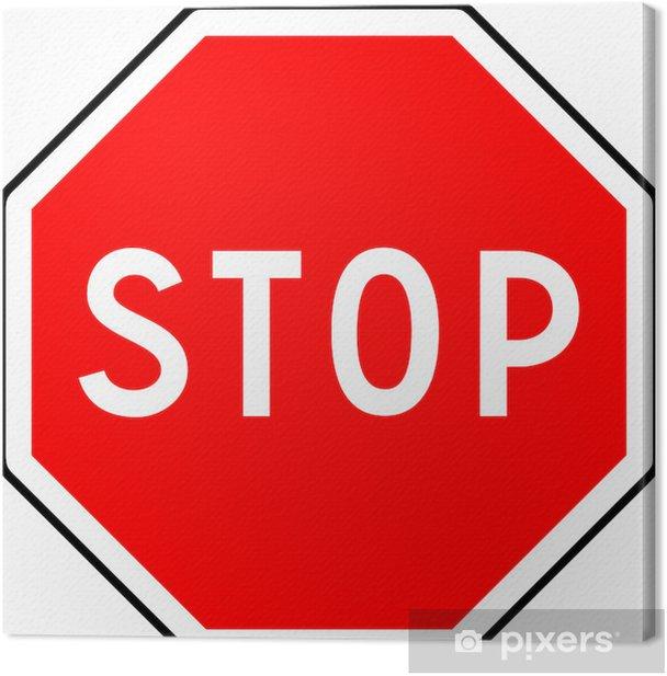 Obraz na płótnie Zatrzymaj się - Znaki i symbole