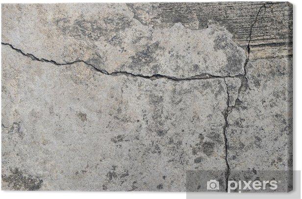 Obraz na płótnie Zbliżenie tekstury betonu pęknięty tle. - Tematy