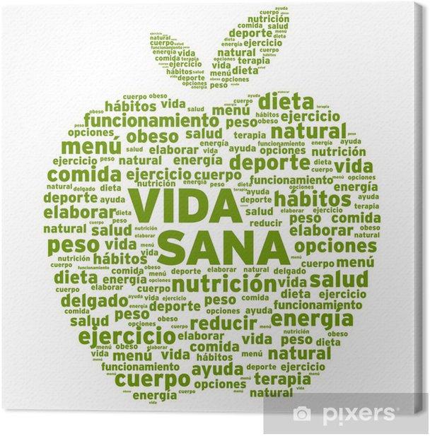 Obraz na płótnie Zdrowego trybu życia (w języku hiszpańskim) - Owoce