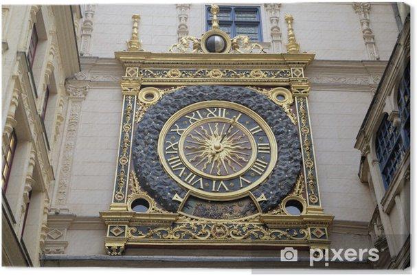 Obraz na płótnie Zegar astronomiczny w Rue du Gros-Horloge (1389). Rouen, Francja - Europa