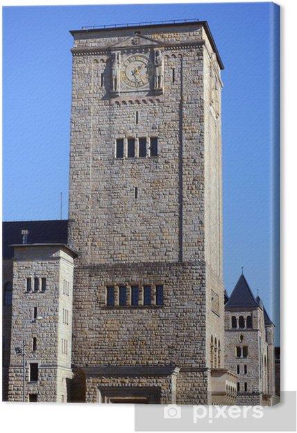 Obraz na płótnie Zegar na wieży zamku Królewskiego w Poznaniu - Wakacje