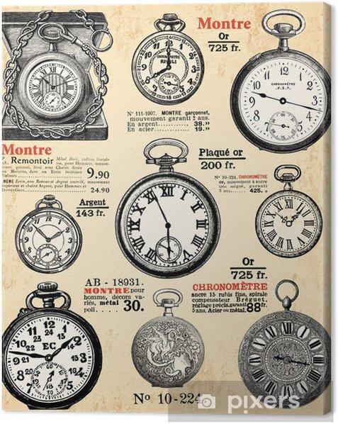 Obraz na płótnie Zegarki kieszonkowe - Zegary