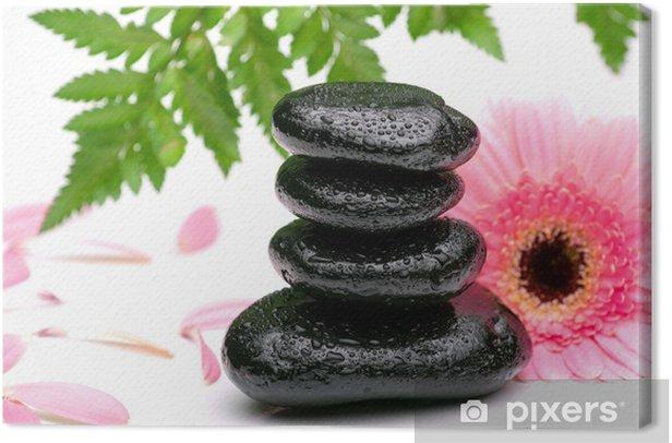 Obraz na płótnie Zen bazaltu kamienie i stokrotka na białym - Tematy