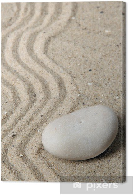 Obraz na płótnie Zen ogród raked piasku i kamieni z bliska - Transport drogowy