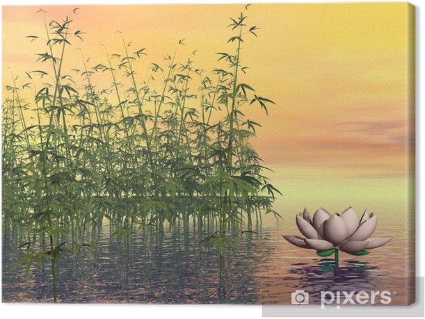 Obraz na płótnie Zen przyrodzie - 3D render - Bambusy