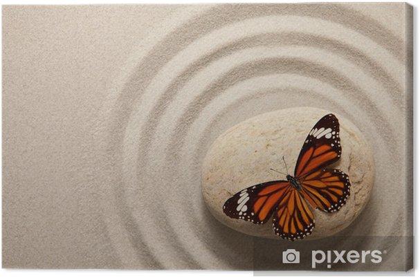 Obraz na płótnie Zen rock z motylem - Tematy