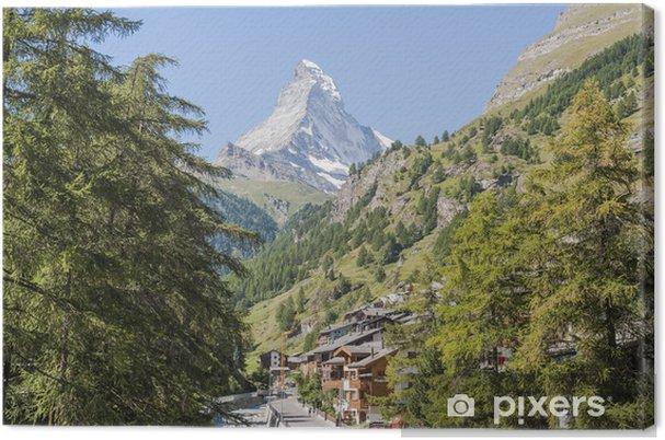 Obraz na płótnie Zermatt, wieś, Alpy Szwajcarskie, Valais, Szwajcaria - Europa