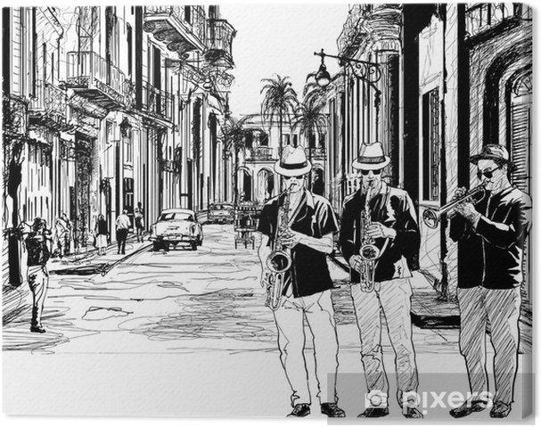Obraz na płótnie Zespół jazzowy na Kubie - Jazz