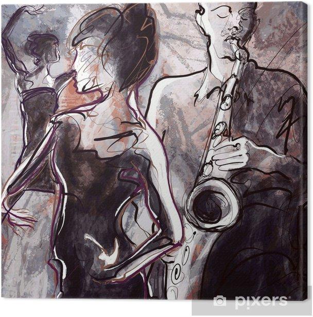 Obraz na płótnie Zespół jazzowy z tancerzami - Jazz