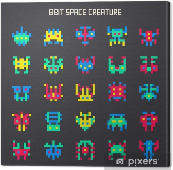 Obraz na płótnie Zestaw 8-bitowych potwora przestrzeni kolorów - Znaki i symbole