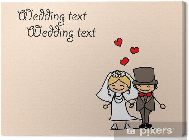 Obraz na płótnie Zestaw cartoon znaków ślubu - Pary