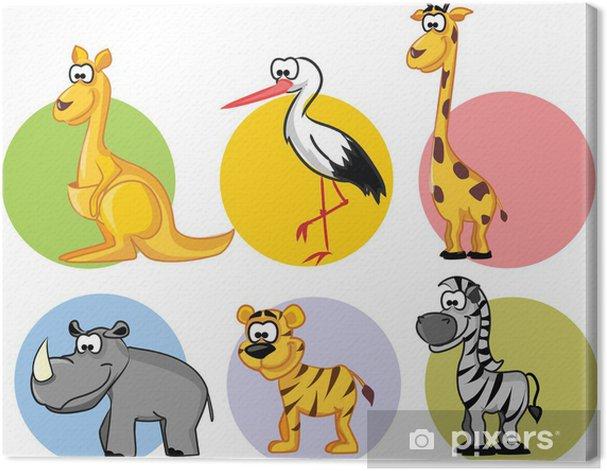 Obraz na płótnie Zestaw cute kreskówek zwierząt - Ssaki