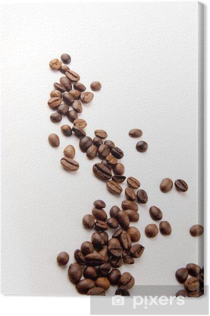Obraz na płótnie Ziarna kawy rozproszone - Gorące napoje