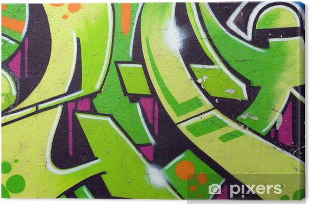 Obraz na płótnie Zielona grafitti - Tematy