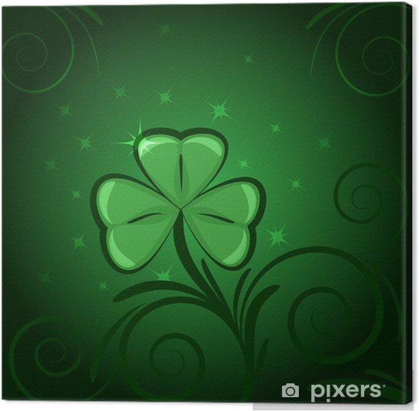 Obraz na płótnie Zielona koniczyna tło - Święta Narodowe
