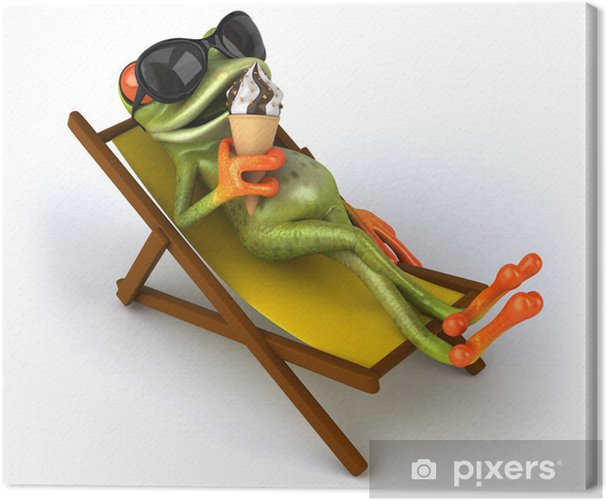 Obraz na płótnie Zielona żaba - Znaki i symbole