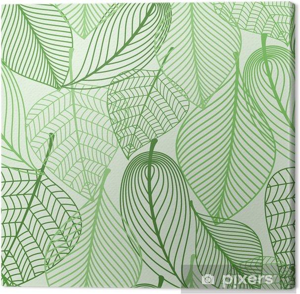 Obraz na płótnie Zielone liście bezszwowe tło wzór - Style
