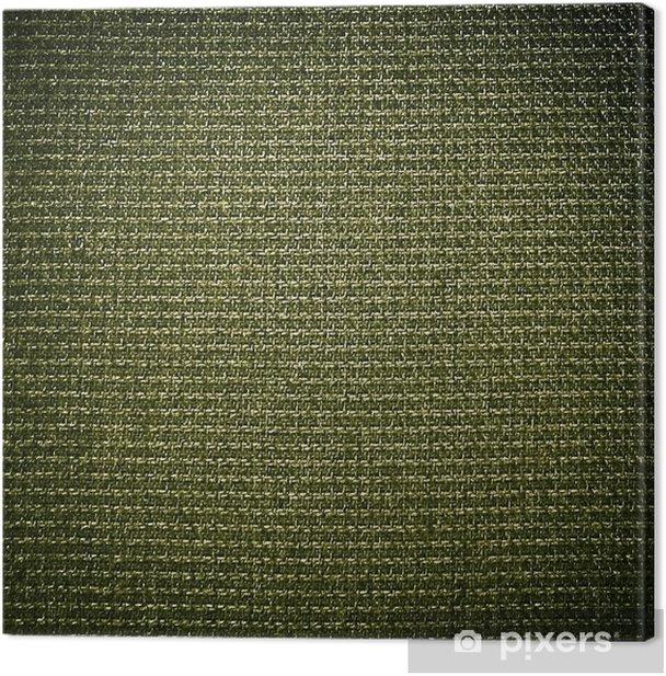 Obraz na płótnie Zielone tło tkaniny - Tekstury