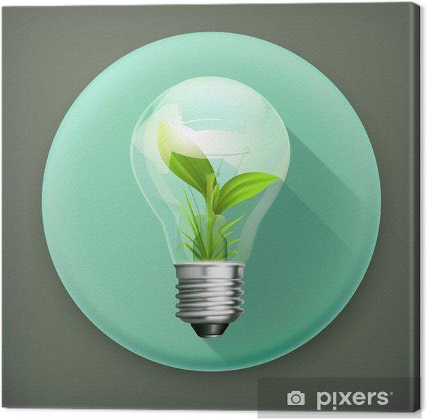 Obraz na płótnie Zielonej energii, długi cień wektor ikona - Znaki i symbole