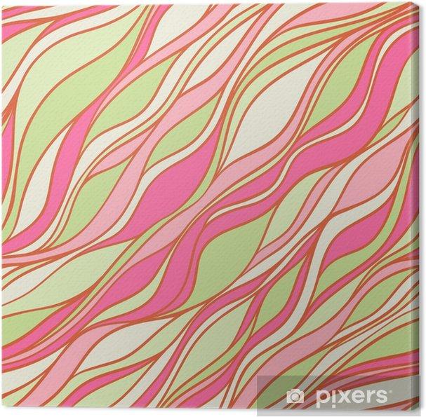 Obraz na płótnie Zielony i różowy wzór - Tła