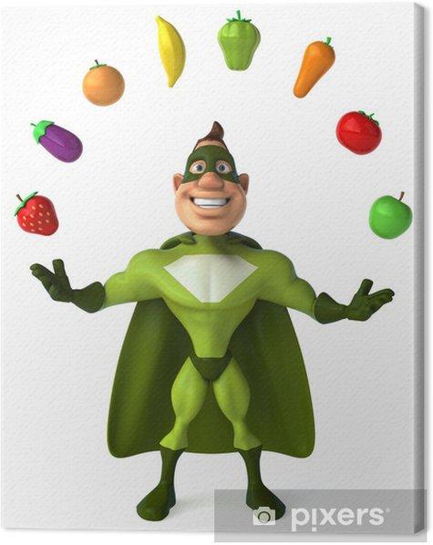 Obraz na płótnie Zielony superbohater - Znaki i symbole