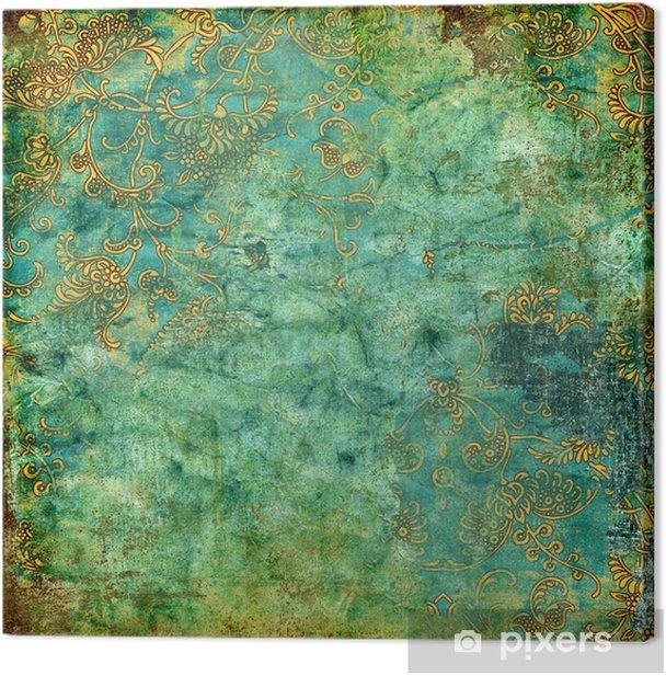 Obraz na płótnie Zielony, tekstury, rusty rocznika - Style