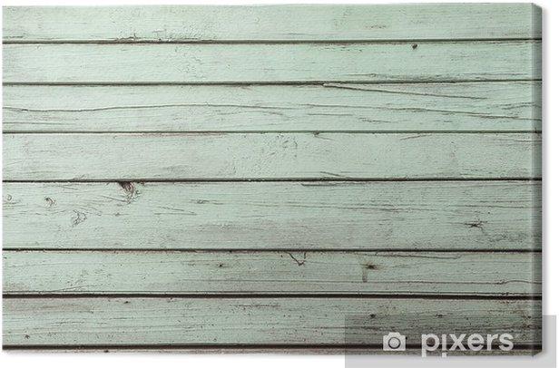 Obraz na płótnie Zielony tekstury wyblakły drewniane drzwi - Tekstury