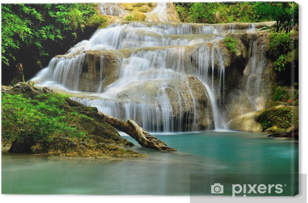 Obraz na płótnie Zielony wodospad w tropikalnych - Tematy