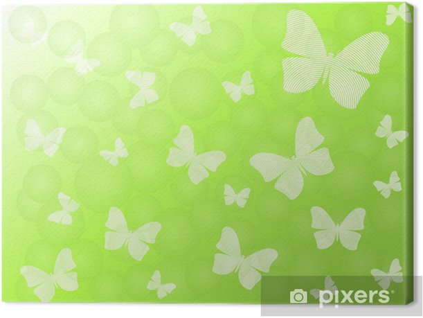 Obraz na płótnie Zielonym tle - Inne Inne