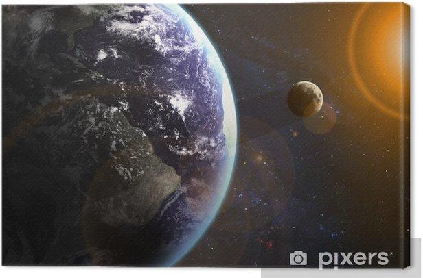Obraz na płótnie Ziemia w przestrzeni. Elementy tego zdjęcia dostarczone przez NASA - Wszechświat