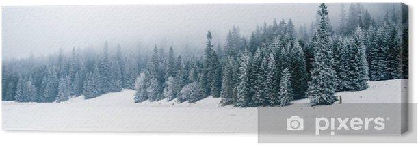 Obraz na płótnie Zima, biały, las i śnieg, Boże Narodzenie - iStaging