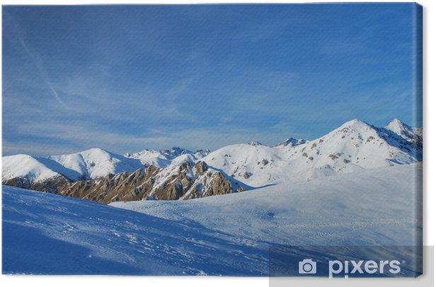 Obraz na płótnie Zima w Mercantour - Góry