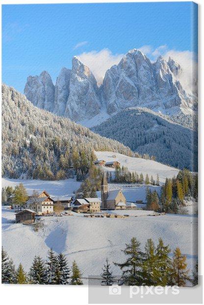 Obraz na płótnie Zimą w Santa Maddalena - Europa