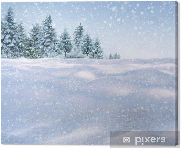 Obraz na płótnie Zima w tle - iStaging