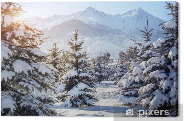 Obraz na płótnie Zimowa sceneria górska - Tematy