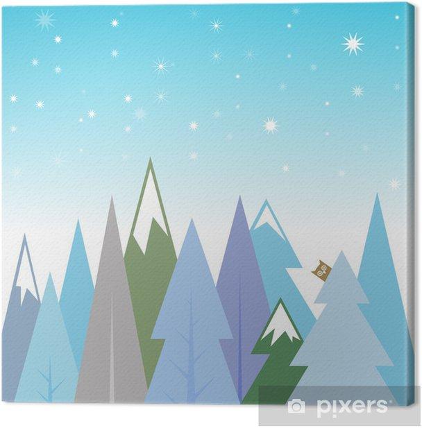 Obraz na płótnie Zimowy krajobraz tła - Pory roku