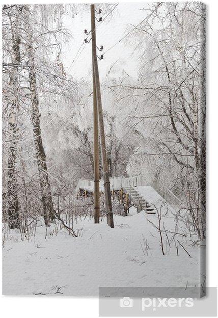 Obraz na płótnie Zimowy krajobraz - Pory roku