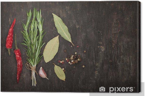 Obraz na płótnie Zioła i przyprawy - Przyprawy i zioła