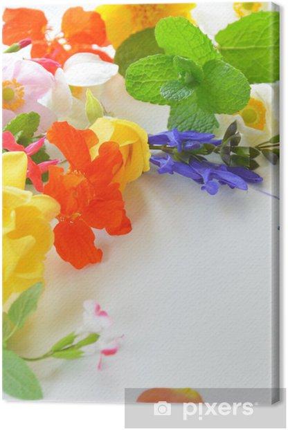 Obraz na płótnie Ziołowe kwiaty - Kwiaty