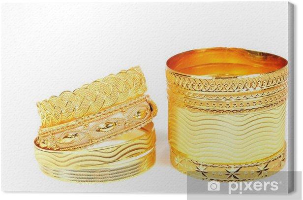 Obraz na płótnie Złote bransoletki - Moda