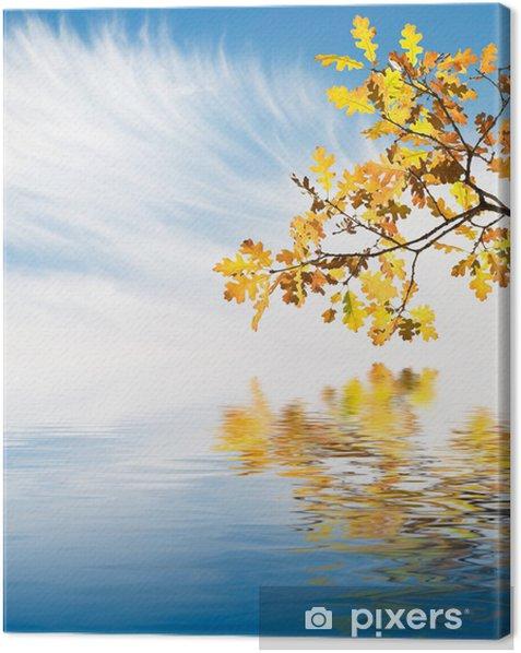 Obraz na płótnie Złoty Liść Reflections - Pory roku