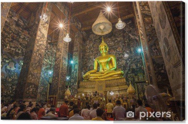 Obraz na płótnie Złoty posąg Buddy sutat świątynia, Tajlandia - Azja