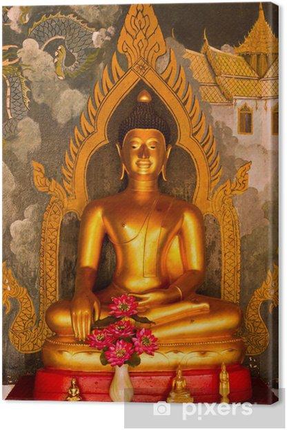 Obraz na płótnie Złoty posąg Buddy z thai malowanie tle - Tematy