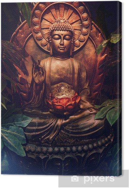 Obraz na płótnie Złoty posąg Buddy - Style